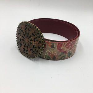 Nanni Floral Belt With Big Belt Buckle 90/36